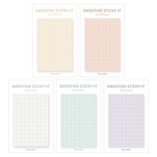Monolike Smoothie Grid Sticky-it - 5p Set Self-Adhesive Memo Pad 50 Sheets