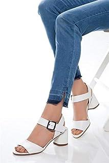 TARÇIN Hakiki Deri Klasik Günlük Kadın Topuklu Ayakkabı TRC71-01937
