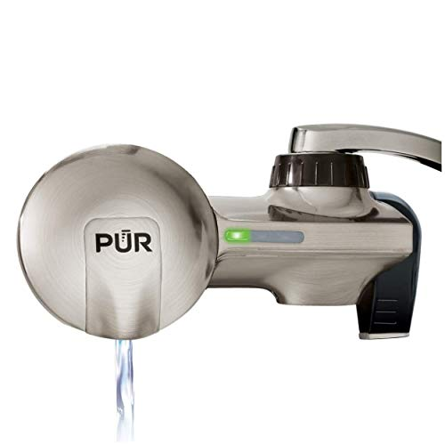 PUR PFM450S Faucet Water Filtration System, Horizontal, Stainless Steel
