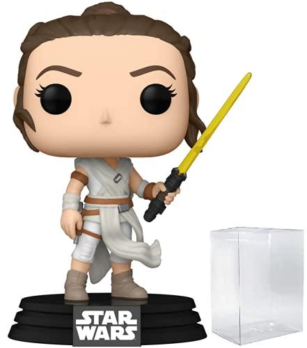 Funko Pop! Star Wars: The Rise of Skywalker – Rey con spada laser gialla in vinile (include custodia protettiva compatibile con la scatola pop)