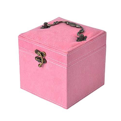 YHDNCG Caja de joyería,Bloqueo seguro,Caja de almacenamiento de joyería,Cajas de exhibición,Organizadores,Pendientes Collar Caja