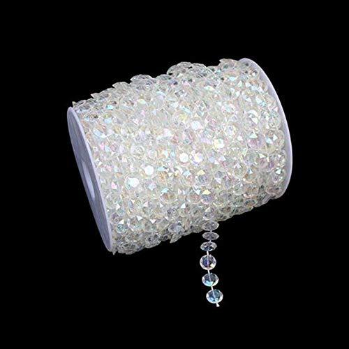 WINOMO Perlengirlande Kristall Girlande Dekogirlande Tischdeko Hochzeitsdeko 30M