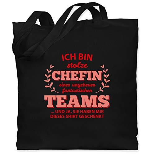 Sonstige Berufe - Stolze Chefin Shirt - Unisize - Schwarz - Statement - WM101 - Stoffbeutel aus Baumwolle Jutebeutel lange Henkel