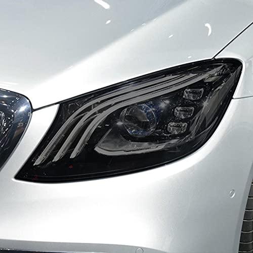 JHSOP Car Headlight Protective Film Taillight Smoked Black Tint Wrap Vinyl Transparent TPU Sticker, for Mercedes Benz Maybach W222 X222