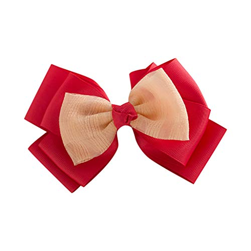 Baby Kids Girls Rhinestones Bowknot Hairpin Headdress Colorful Retro Hair Bows