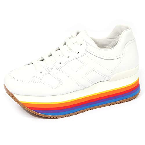 Hogan 1717J Sneaker Donna White 86 H421 Scarpe Micro Rainbow Shoe Woman [40]