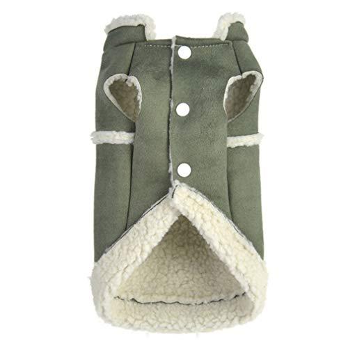 Abrigo de Perro de Invierno Fleece Interior Espesar Ropa para Perros pequeños Pocket Buckskin Chaqueta para Mascotas Ropa de Abrigo