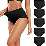 Molasus Women's Soft Cotton Underwear Briefs High...