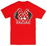 Disney Adults Minnie Mouse Mom Fan Red Small T-Shirt