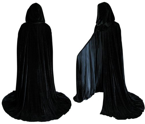 Big Sale Lined Black Velvet Cloak - Medieval Renaissance Costume by Artemisia Designs
