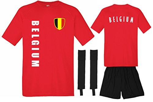 EM 2016 Belgien Trikot Hose Stutzen - rot SP/A Komplettsatz (XL)