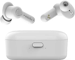 ワイヤレス イヤホン bluetooth イヤホン 【第二世代】 Bluetooth 5.0 高音質 自動ペアリング/ON/OFF IPX5防水 両耳 左右分離型 音量調整 ノイズキャンセリング&AAC対応 タッチ式 ハンズフリー通話 マイク内蔵 充電収納ケース付 iPhone/iPad/Android適用 白