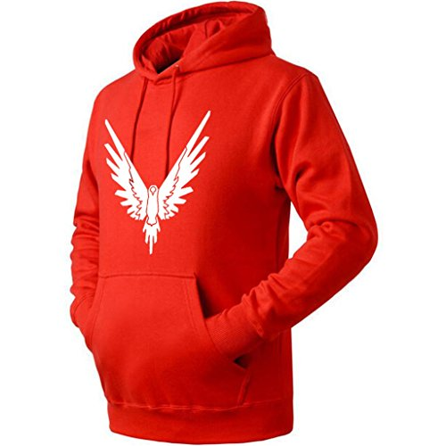 Unisex Be A Parrot Fahion Logang Hoodie (Red Small)