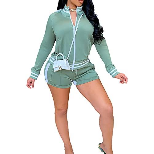 Primavera verano de las mujeres deportes primavera verano chaqueta casual señoras pantalones