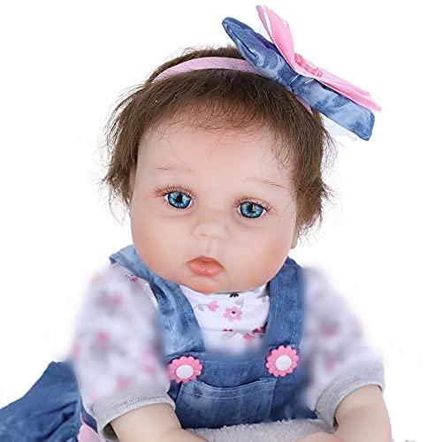 Realistica 55cm Bambole Reborn Femmina Bambina Silicone Originali Bambola Reborn La Bambola Indossa...