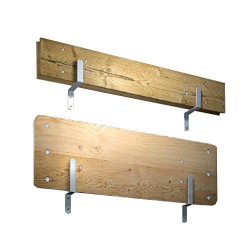 Halterungsset für Festzeltgarnitur Brauereigarnitur Bierzeltgarnitur aus verzinktem Stahl inkl. Schrauben und Dübeln