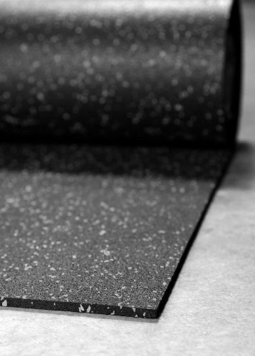 """IncStores 1/4"""" Tough Rubber Roll (4' x 10') - Excellent Gym Floor mats for Medium/Large Equipment and Light/Moderate Free Weights (1 Mat - 4'x10' Grey)"""