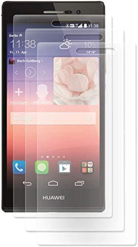 ENERGMiX Folie kompatibel mit Huawei Ascend P7 Kristallklar (3 Stück) Schutzfolien Displayfolie