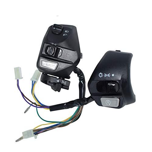 Linger Interruptor de la manija de la motocicleta Interruptor de giro de la señal de giro de la señal eléctrica de la señal eléctrica El interruptor del controlador del manillar Ajuste para YAMAHA LC1
