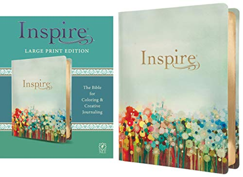 Compare Textbook Prices for Inspire Bible Large Print NLT LeatherLike, Floral Fields with Gold: The Bible for Coloring & Creative Journaling Large type / Large print Edition ISBN 0031809002216 by Tyndale