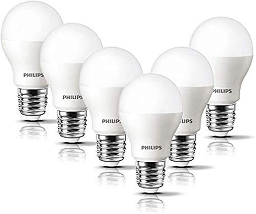 Philips LED Lampe 8 W ersetzt 60 W, E27, warmweiß (2700K), 806 Lumen, matt, 6er Pack