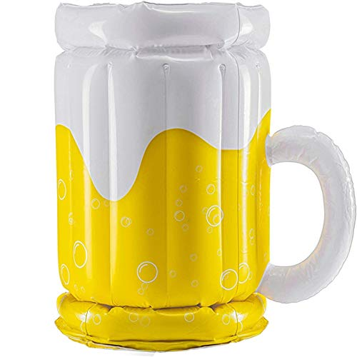 Cubiteras Cubo de hielo inflable de la cerveza inflable de PVC gran grande Bucket de hielo de la bebida de la bebida de la bebida de la cerveza del titular de la copa del verano Piscina de ver
