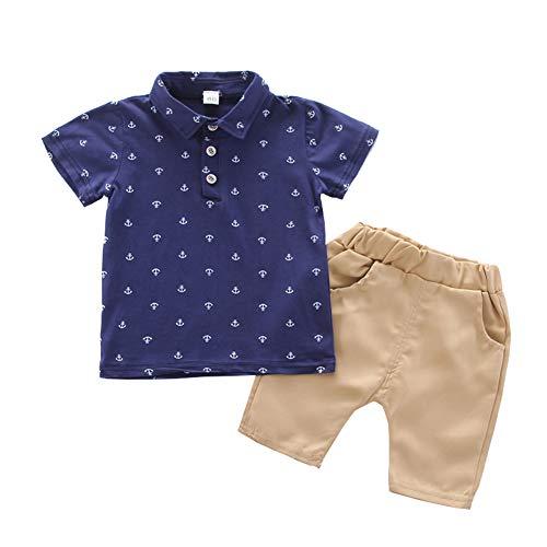 BOBOBORA Conjunto de bebé niño de verano, 2 piezas, camiseta dinosaurio de...