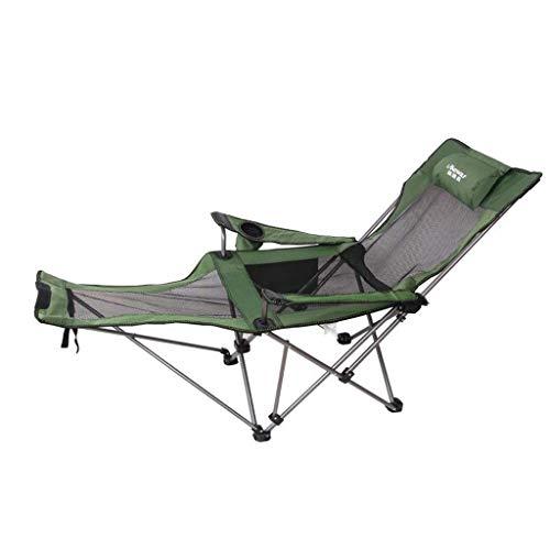 YLCJ Silla Plegable para Acampar al Aire Libre, con reposapiés Sillas