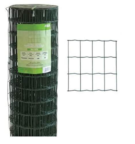 RETE Zincata finitura PVC PAPILLON elettrosaldata 76X63 H150 25MT PLASTICATA SGS