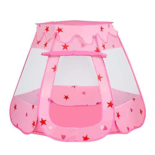 Kindertent Speelhuis Baby Anti-Muggen Tent Kamer Opbergtas Ballenbak Voor Kinderen Bolvormige Tent Indoor En Outdoor Oceaan Ballenbad,Pink