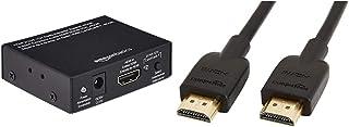 Amazon Basics Convertisseur et extracteur Audio HDMI vers HDMI + Audio (SPDIF + RCA Stereo) & Câble HDMI 2.0 Haute Vitesse...
