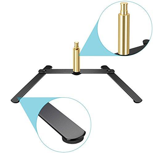 Neewer LED Ring Light Base Desktop Tabletop Stand Support Bracket for Make Up, Selfie, Live Show, Portrait, YouTube Photography Video Shooting, Aluminum Alloy