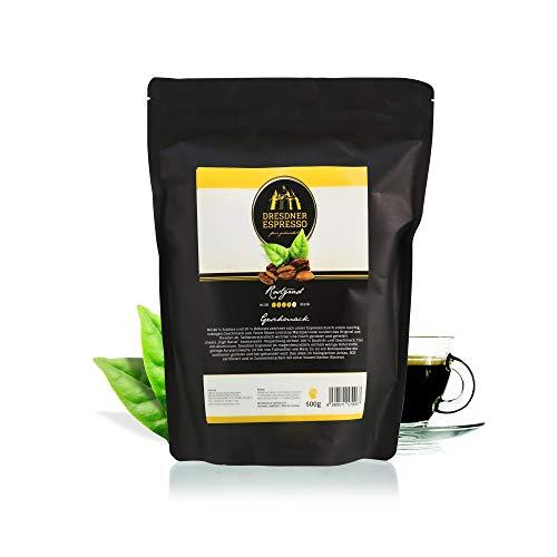 Dresdner Espresso - Espressobohnen aus biologischem Anbau / fair gehandelte Kaffeebohnen / rauchig, nussiger Geschmack mit Marzipannote / reiner Bohnenkaffee (Auffüllpackung, 500g)