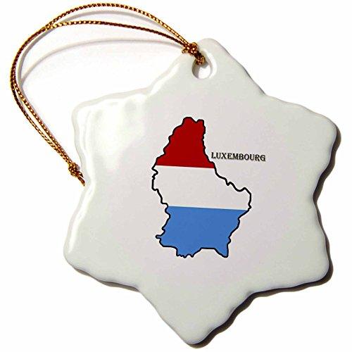 3dRose vlag van Luxemburg, sneeuwvlokmotief, meerkleurig, 7,6 cm
