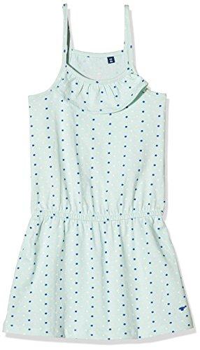 TOM TAILOR Kids Mädchen Cute Dress with Print Kleid, Blau (Powdered Ocean Blue 6971), 122 (Herstellergröße: 116/122)
