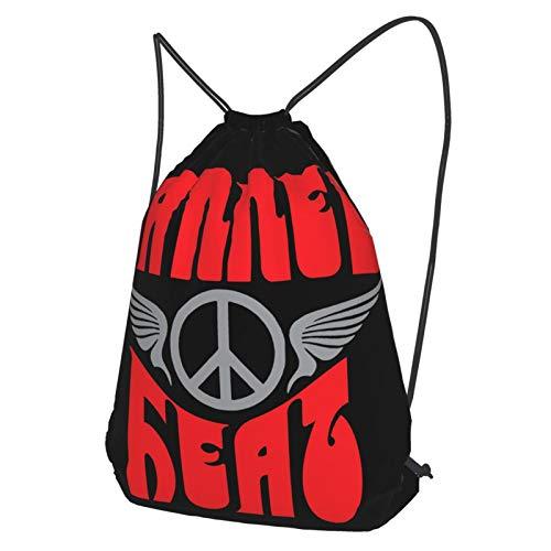 Canned Heat Mochila con Cordón Deportiva Gym Sackpack para Hombres Y Mujeres Black M