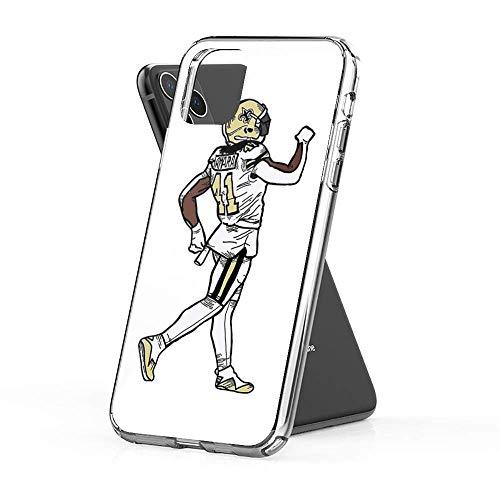 Pure Clear Phone Case Alvin Kamara Compatible with iPhone 12 Pro Max 12 Mini 11 Pro Max X/XS Max XR SE 2020/8/7 6/6s Plus Case Accessories Scratch Drop
