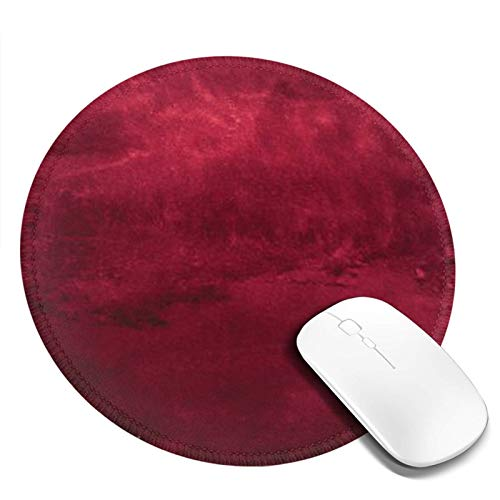 Personalized Mouse Pad Round Mouse Pad Best Mouse Pad Ergonomic Mouse Pad-Colorful Dark Maroon Watercolor The Color of Red Wine Composition