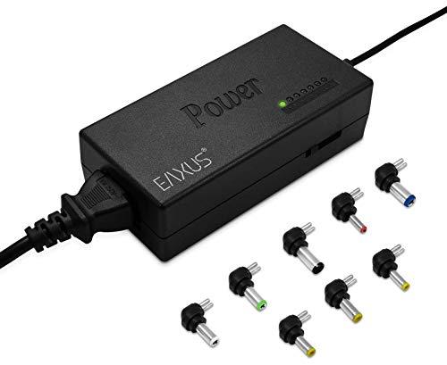 Eaxus® Universal Netzteil - Ladekabel für Laptop/Notebook & Weitere Geräte - 12-24 Volt, 96 Watt, mit 8 Aufsätzen