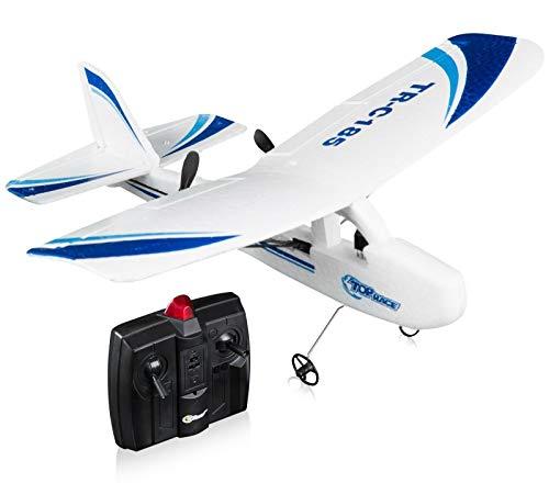 Top Race Cessna C185 Elektrische 2-kanaals infrarood afstandsbediening RC-hobby-vliegtuig met 3 wielen, dubbele propeller en nacht-flitslicht gemakkelijk te vliegen voor professionals. TR-C185