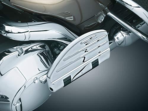 Kuryakyn 7906 Motorcycle Foot Controls: ISO Passenger Boards for 1986-2019 Harley-Davidson Motorcycles, Chrome, 1 Pair