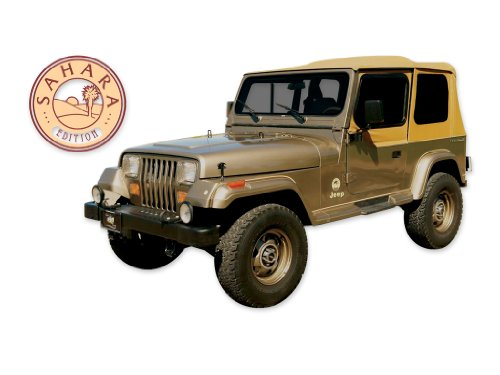 Wrangler 1988 1989 1990 1991 Jeep Sahara Edition YJ Decals & Stripes Kit - Yellow/RED