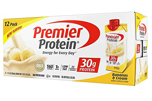 Premier Protein High Protein Shake Bananas amp Cream 11 fl oz 12 pack
