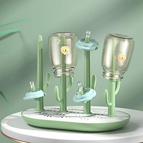 XKMY Estante de secado de biberones para bebés, de color sólido, para biberones de bebé, soporte para biberones (color: verde)