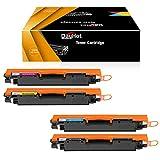 Dayhot CE310A CF350A CE311A CF351A CE312A CF352A CE313A CF353A Cartucho de Tóner Compatible para HP Color Laserjet Pro MFP M176n M177fw CP1025NW(1 Negro,1 Ciano,1 Magenta,1 Amarillo)