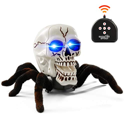BEJOY Remote Control Spider Toy Halloween Horror RC Skull...