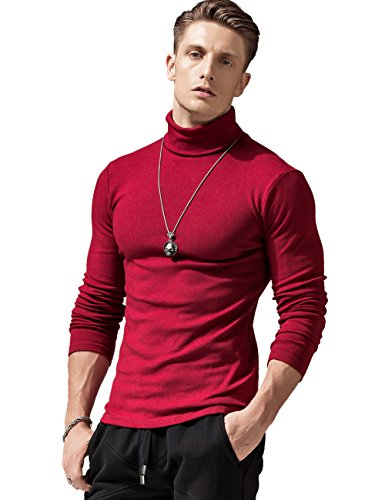 Red Sweaters Mens Turtleneck