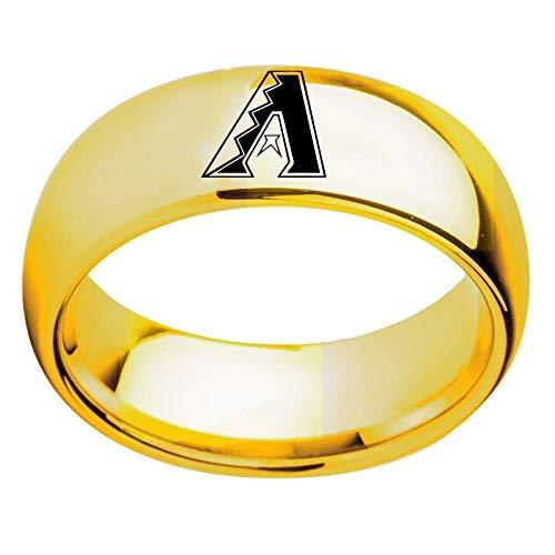 Stijlvolle eenvoud ringen baseball sport fans collectie ring hoogwaardige legering ring voor mannen vrouwen perfect cadeau/goud/nummer 9, ZS Nummer 8 goud