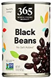 365 by Whole Foods Market, Shelf-Stable Beans, Black - No Salt Added, 15 Ounce