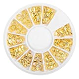 3D Gold Silver Nail Charms Metal Rivets Studs Rhinestones Pearl Nail Jewelry DIY Nail Art Decorations Accessoires (136)